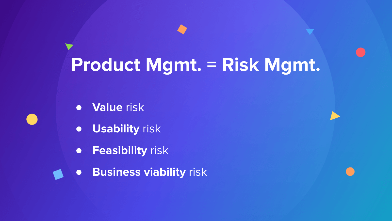 product discovery process — the 4 risks