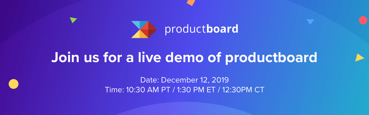 Join us for a live demo of productboard!
