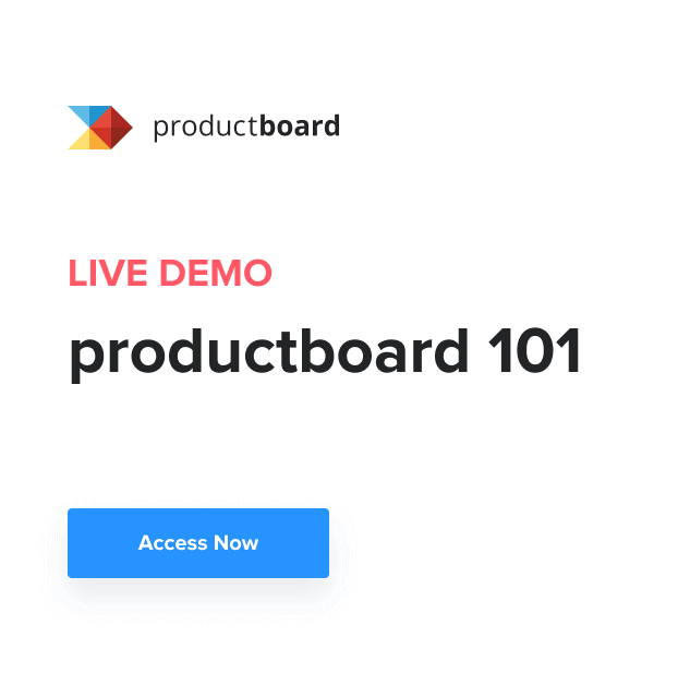 Weekly Live Demo Series: Productboard 101