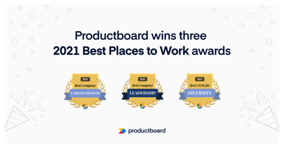 """Productboard wins three """"Best Places to Work"""" awards from Comparably"""